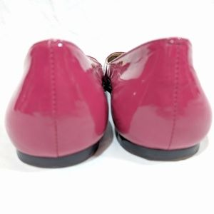 Coach Shoes - Coach Ellyce Hot Pink Patent Leather Buckle Flats